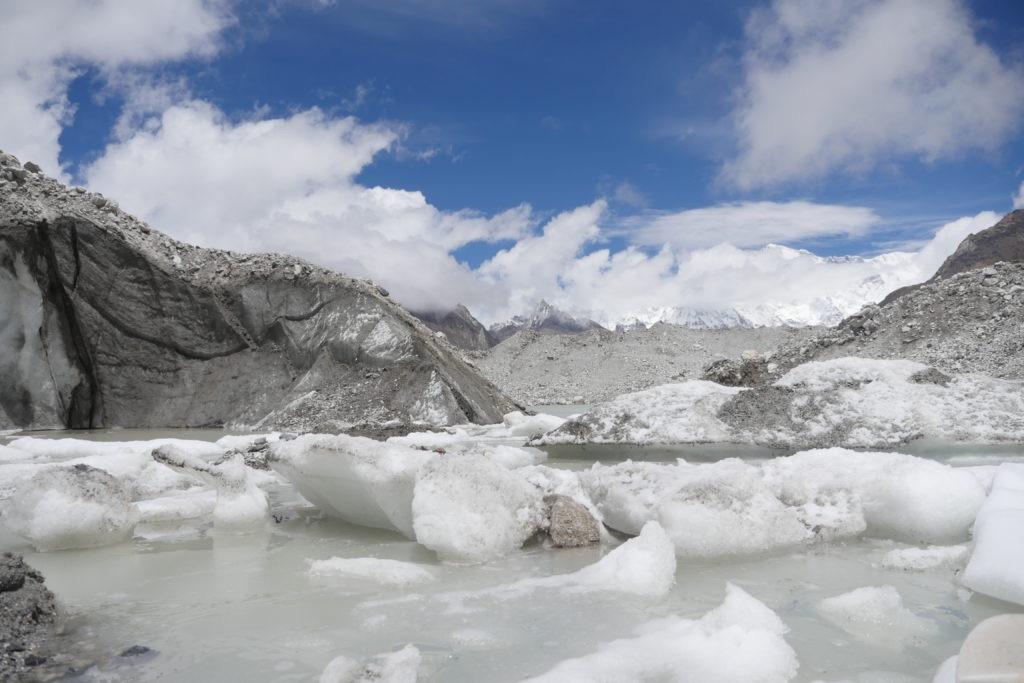 Ngozumpa glacier. Credit: Benjamin Pothier