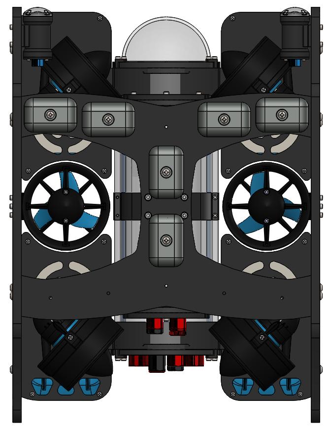 BlueROV2 with 2 Lumen Lights