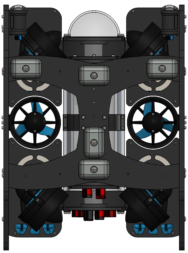 BlueROV2 with 4 Lumen Lights