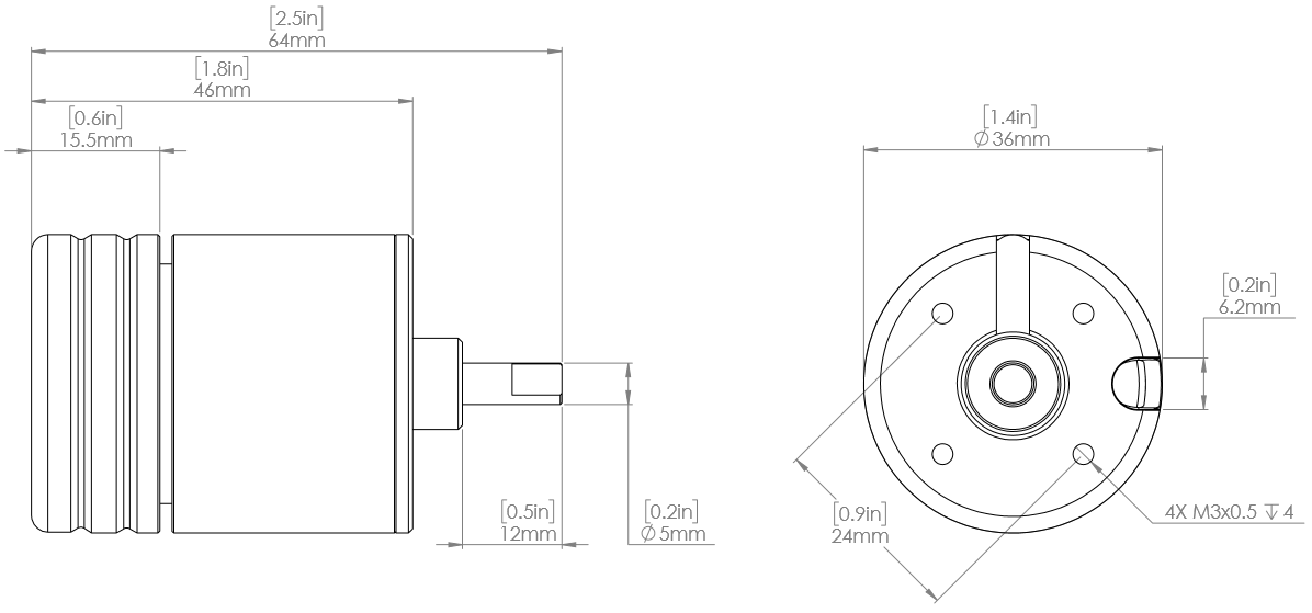 M200 2D Drawing