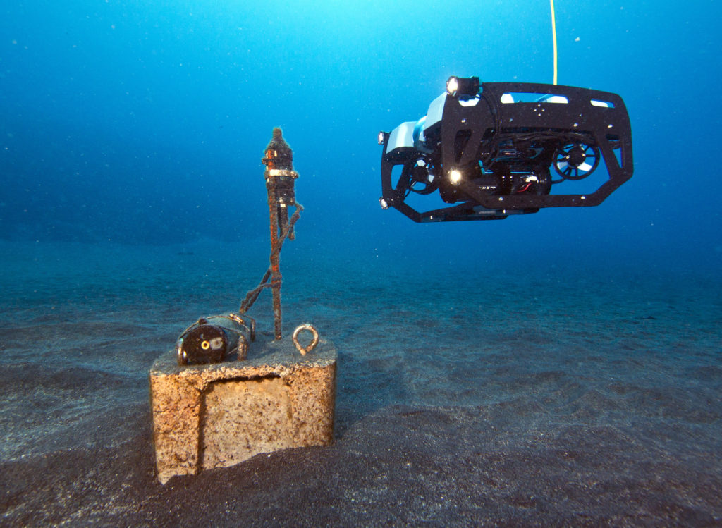 """The BlueROV2: Underwater drone?"" (Credit: Jeff Milisen)"