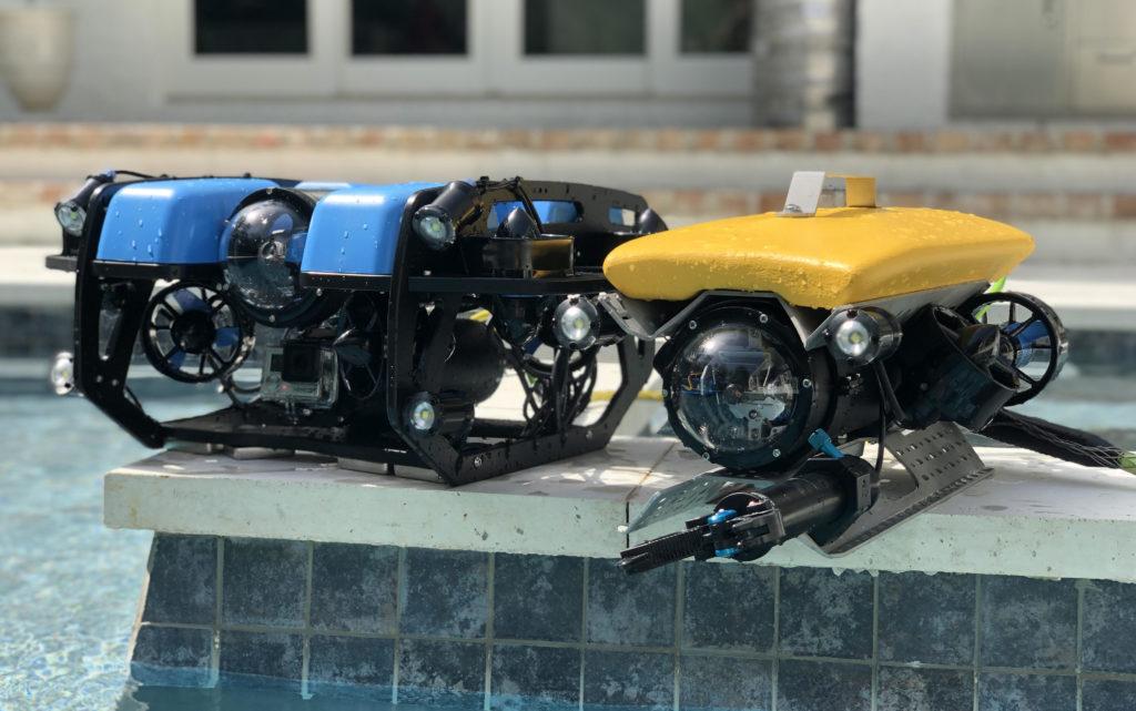 The BlueROV2 and the Outland ROV-500.