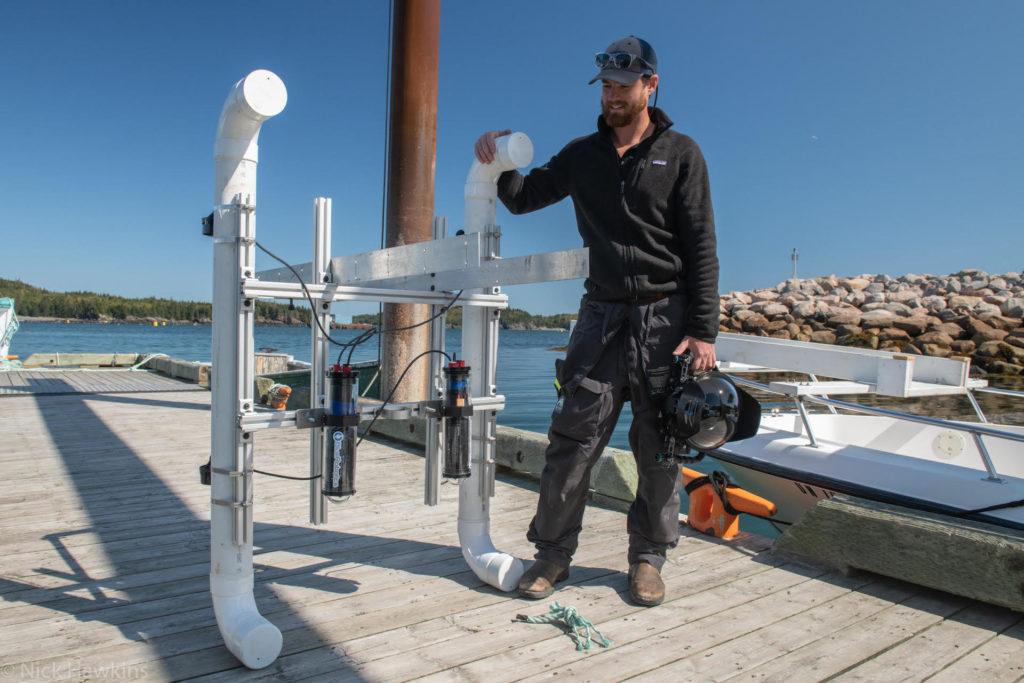 Nick Hawkins built a USV that carries several cameras mounted below the water. (Credit: Nick Hawkins)